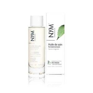 NYM, huile de soin fondamentale sur fond blanc 50ml