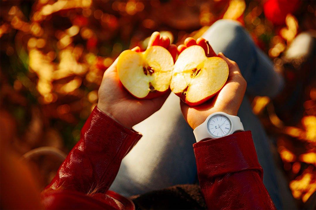 avoir les dents blanches en mangeant des pommes
